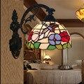 Tiffany lámpara de pared, barroco lámpara de pared, 20 cm montado en la pared de la mariposa tiffany luz para sala de lectura, balcón, pasillo TEN-W-010