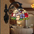 Tiffany lâmpada de parede, barroco lâmpada de parede, 20 cm borboleta wall mounted tiffany luz para a sala de leitura, varanda, corredor TEN-W-010