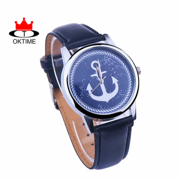 DHL free, 10, Sea Anchor Watch Leather Band Unisex Watch Quartz Analog Wrist Watch for ladies, Women, Boyfriend watch  - buy with discount
