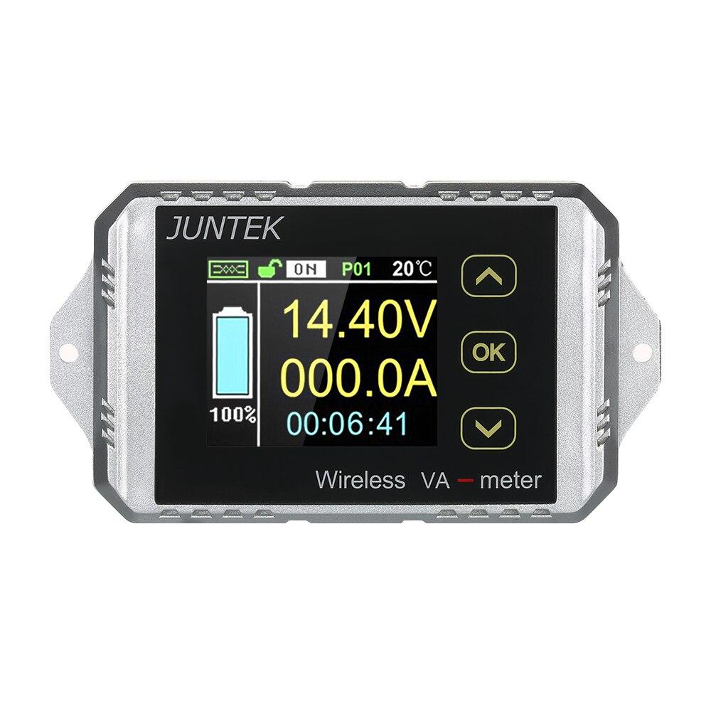 JUNTEK Wireless Digital voltmeter ammeter DC 0 01 100V 0 1 300A Current Voltage Meter Power