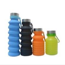 500 мл портативный силиконовые складные велосипедная фляга для воды Открытый Путешествия складной Спорт выдвижной питьевой бутылки