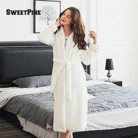 Sweetpine بلون الليل رداء نوم مع الخصر حزام و جيوب سوبر لينة و دافئ شتاء الخريف أعلى جودة منامة