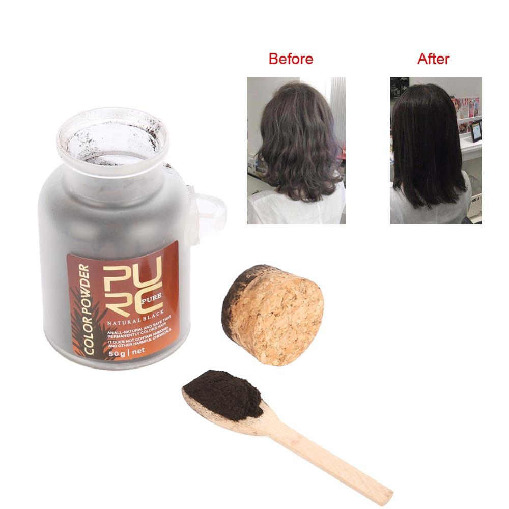50g Hair Color Products For Men Women Natural Ingredients Hair Coloring  Powder Organic Herbal Permanent Hair Dye Black