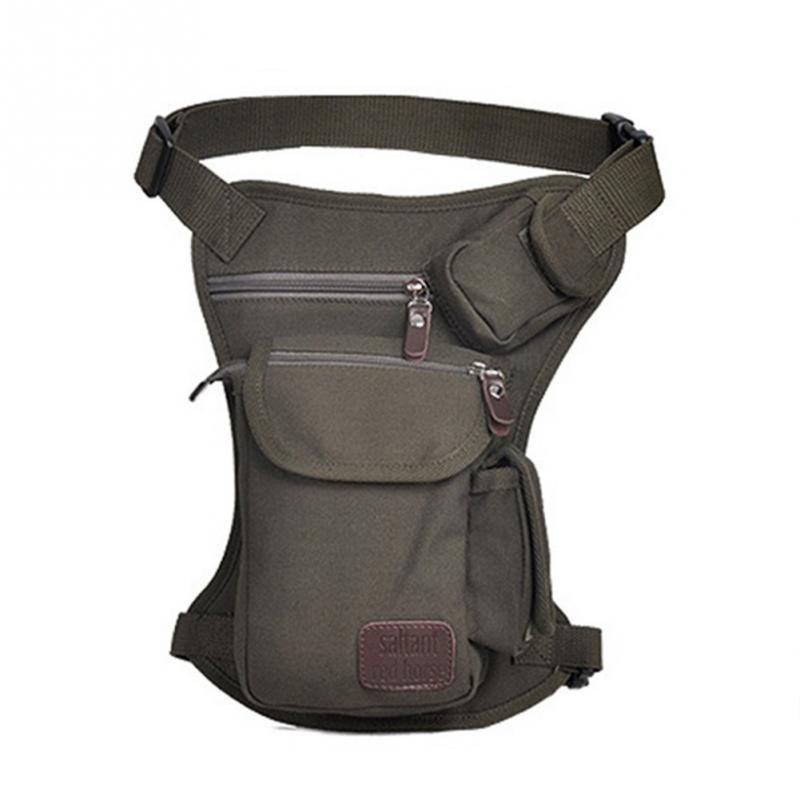 ALI shop ...  ... 32948142327 ... 5 ... Men Canvas Drop Leg Bag Waist Fanny Pack Belt Military Travel Motorcycle Multi-purpose Messenger Shoulder Bags ...