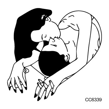 6X6cm Sexy Old School Style Make Love Depp Kiss Temptation Temporary Tattoo Sticker Body Art Water Transfer Fake Taty