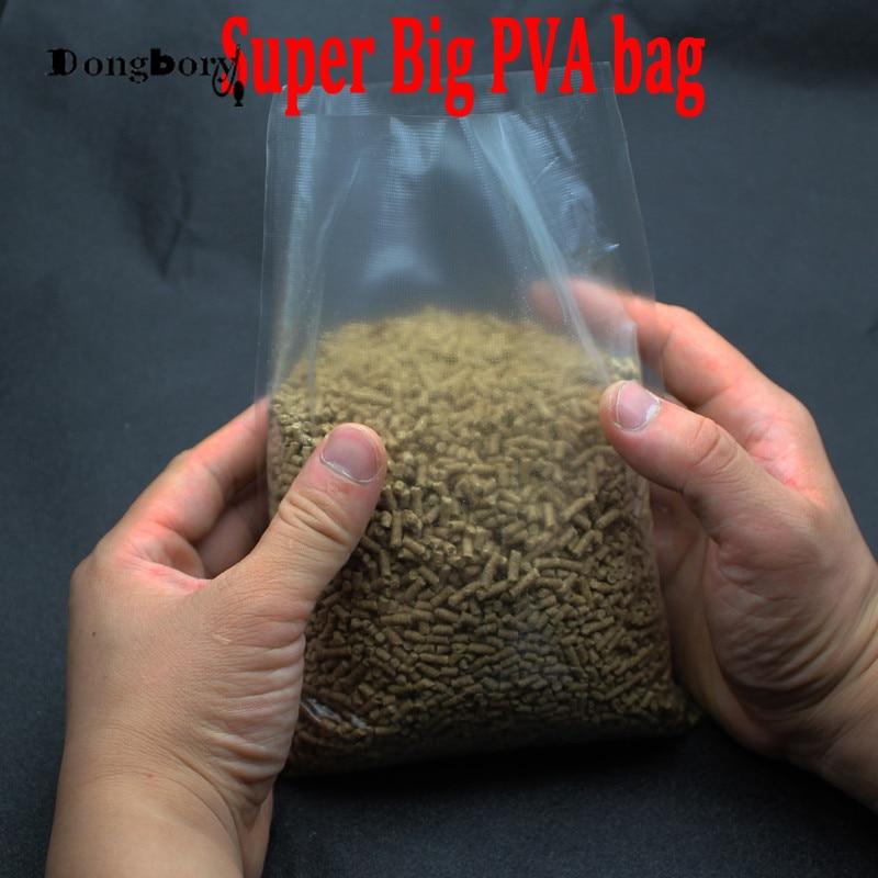 50pcs Fishing Bait PVA Non Residue Dissolve Bag 20m PVA Dissolving String