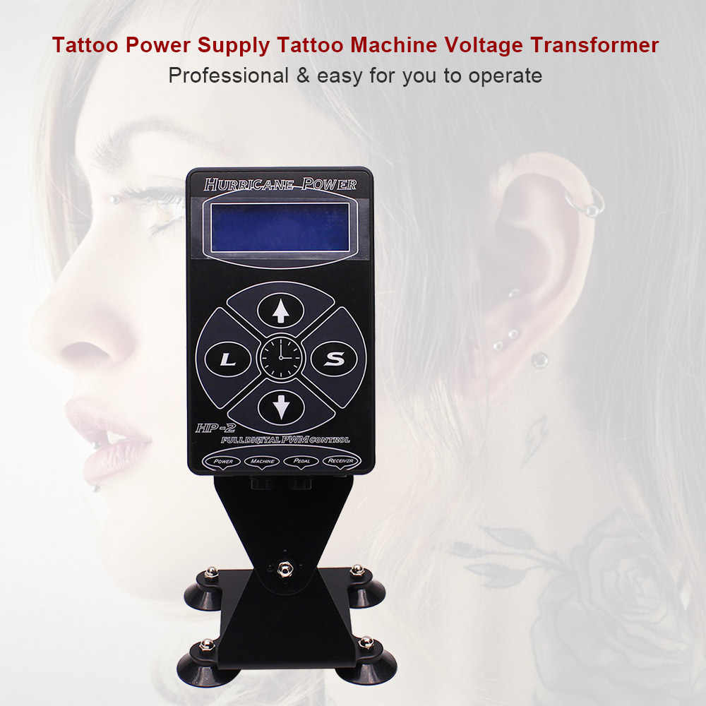 HP-2 Hurricane Tattoo Voeding Upgrade tattoo supplies Machine Voor Intelligente Digitale LCD Make Dual Power Tattoos Gun set