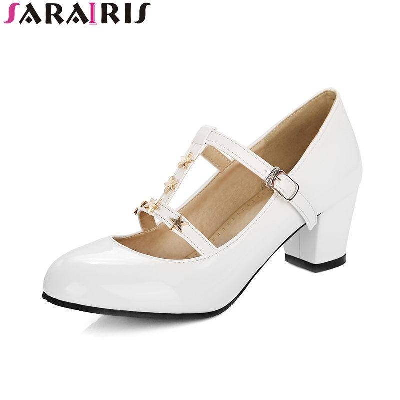 SARAIRIS 2018 Primavera Otoño Más Tamaño 31-48 Decoración de - Zapatos de mujer