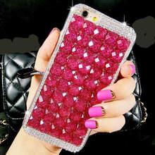 For iPhone 6 6S 7 Plus X XS MAX XR Luxury Glitter Diamond Crystal Rhinestone Phone Case Soft TPU Back Cover Handmade DIY