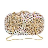 Luxury ABDiamond Sparkling Ladies Hand Bags Dazzling Gift Handbags ChainShoulder Handbag Crystal Purse