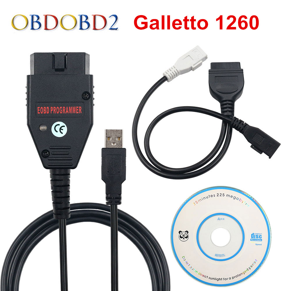 Best Quality Galletto 1260 ECU Chip Tuning Tool EOBD Flasher ECU Flasher Green PCB FTDI FT232RQ Read amp Write Free Ship