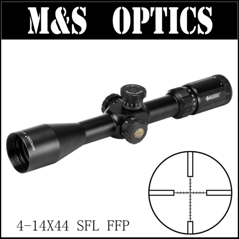 MARCOOL EVV 4-14X44 SFL FFP Under 7.62 Bullet Guns First Focus Plan Tactical Hunting Optics Sight Riflescopes Made In China marcool evv 6 24x50 sfirgl first focus plane tactical rifle scope