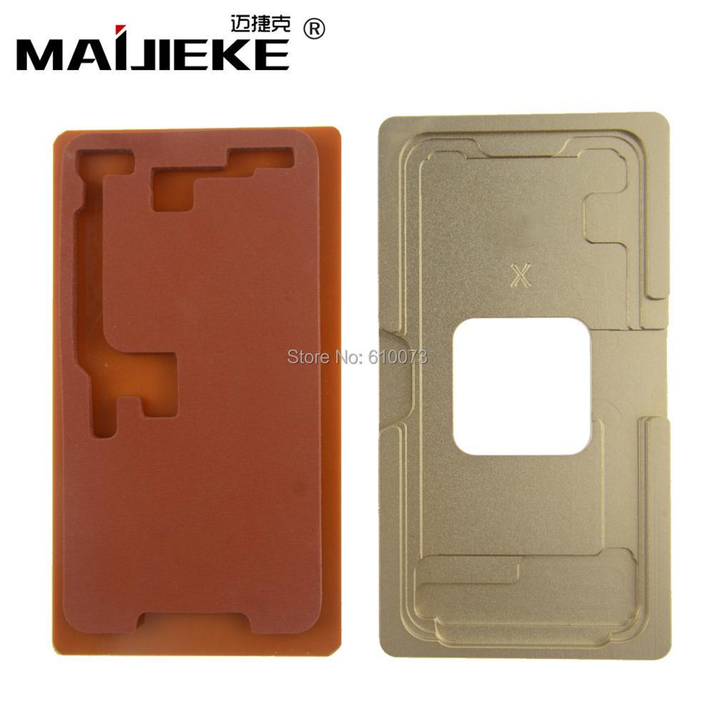 A + 1 Satz Präzision aluminium form Für iphone X 8 & 8 Plus laminator form für die frontglas mit rahmen Lage oca benutzer