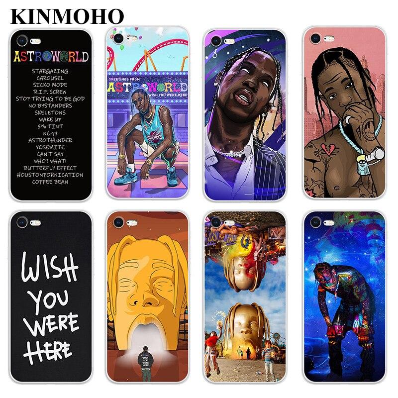 Kinmoho Rap Soft TPU Hip Hop Travis Scott Phone Cases Cover For Coque iPhone XS MAX X XR 6s 8 7 6 Plus 5S SE Funda Capinha Capa