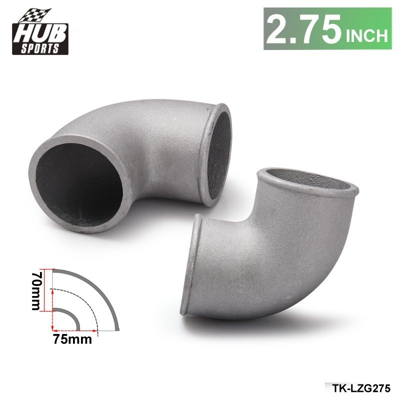 "2.5/"" Cast Aluminum 90 Degree Elbow Pipe Turbo Intercooler Polished"