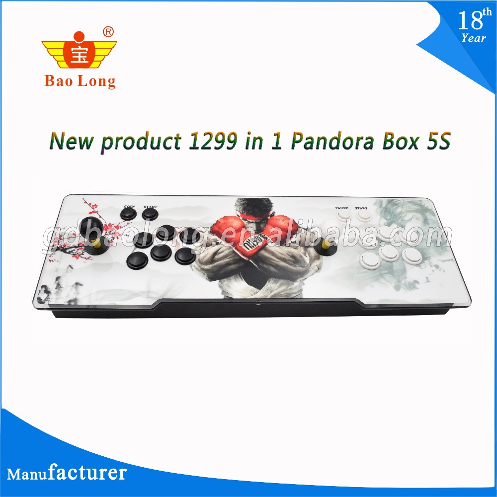 лучшая цена 2018 Hot Sale 1299 in 1 5S TV jamma arcade game console with box 5s VGA HDMI output Pandora box 5S
