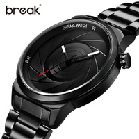 BREAK Unique Design Man Watch Photographer Series Waterproof Wristwatches Sports Quartz Creative Casual Fashion Men Watches