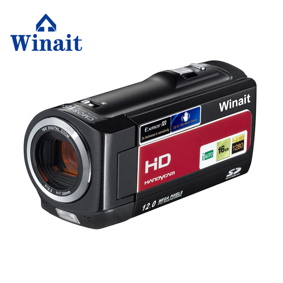 Newest Mini dv camera camcorder / digital video camera 5.0M CMOS sensor 16x digital zoom digital camera self- time 30fps HDV-777