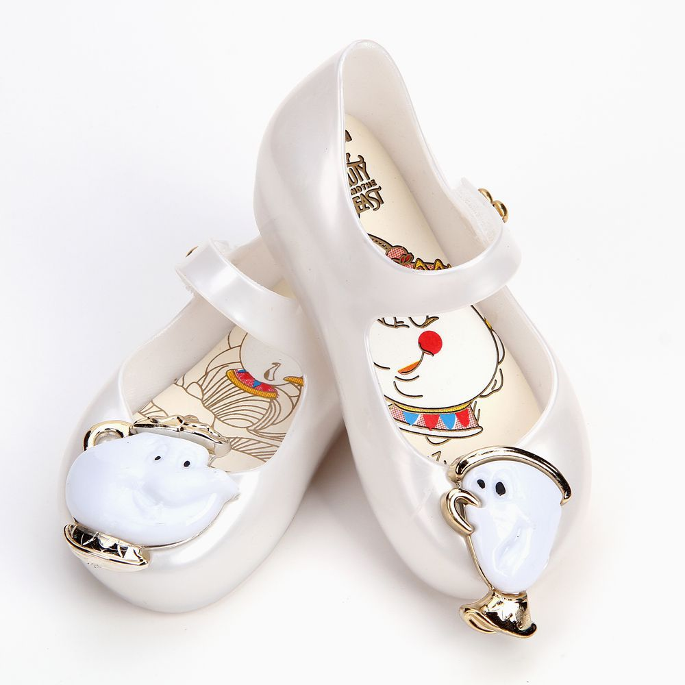 mini melissa 2018 mini children beauty beast girls shoes jelly sandals cute princess sandals kids Shoes Rose Teacup sandals