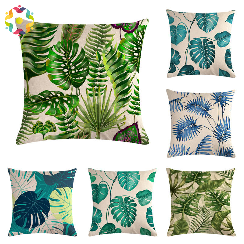 100% Quality Cute Dog Pillow Cover Cushion Case Sofa Seat Cartoon Palm Telopea Monstera Ceriman Home Decorative Cushion Cover Ma23 Home & Garden Home Textile