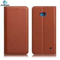 Original PHOPEER Luxury Vintage Genuine Leather Case For Microsoft Lumia 640 Phone Filp Cover Case For