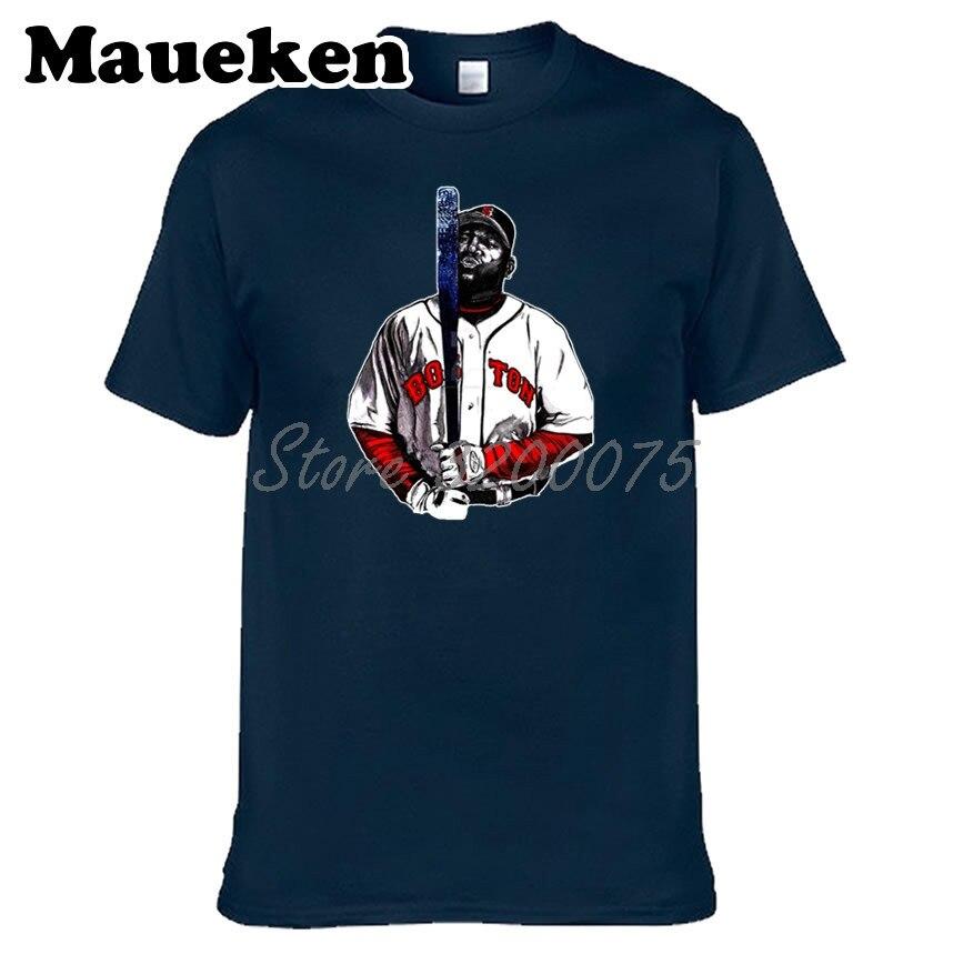 best service f2ac7 57492 Boston MR CLUTCH 34 David Ortiz Men T-shirt Clothes T Shirt Men's for fans  Red Sox gift o-neck tee W0313016