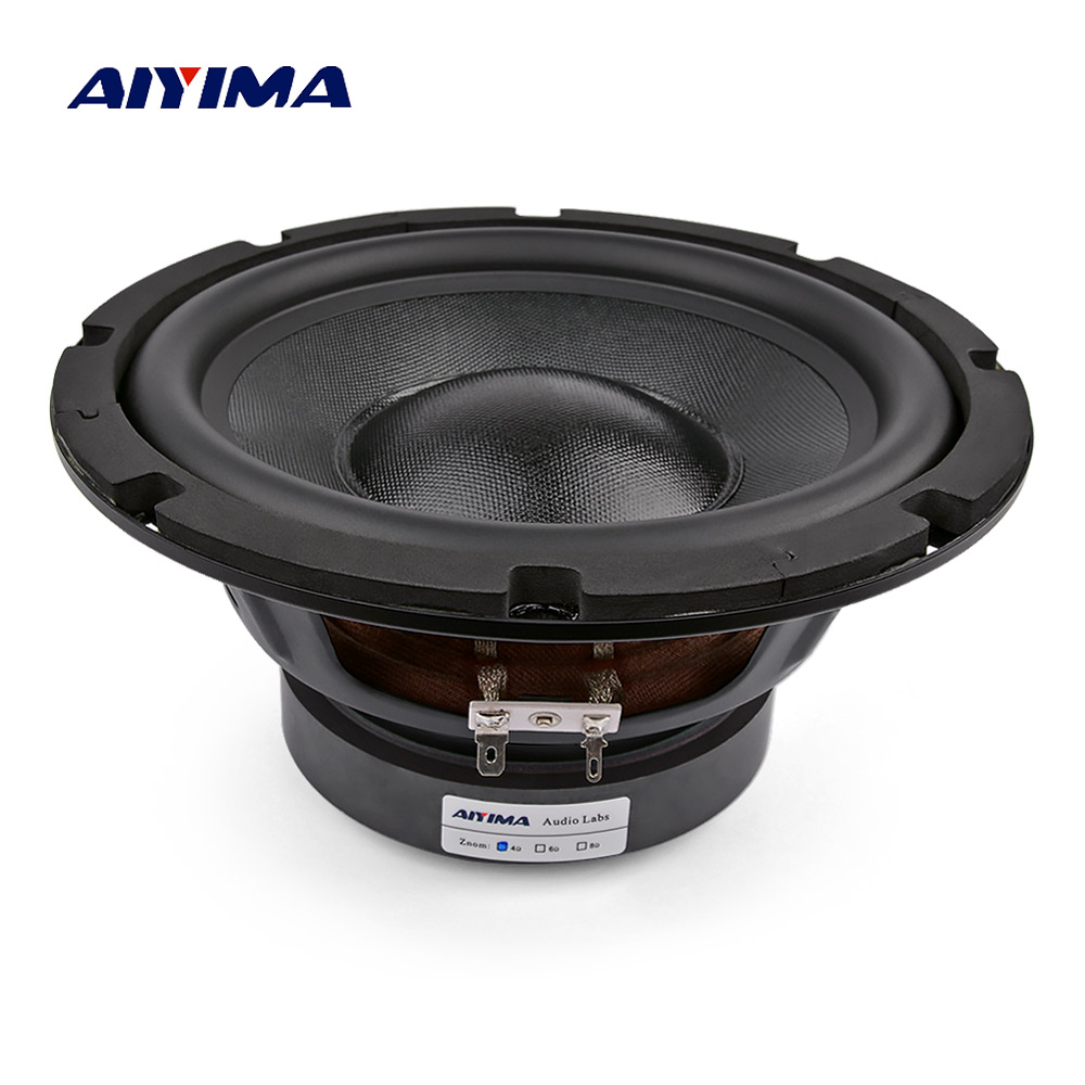 US $57 88 26% OFF|AIYIMA 8 Inch Subwoofer Speakers Woofer 4 8 Ohm 150W High  Power Hifi Fever Sound Loudspeaker Ses sistemi DIY For Home Theater-in