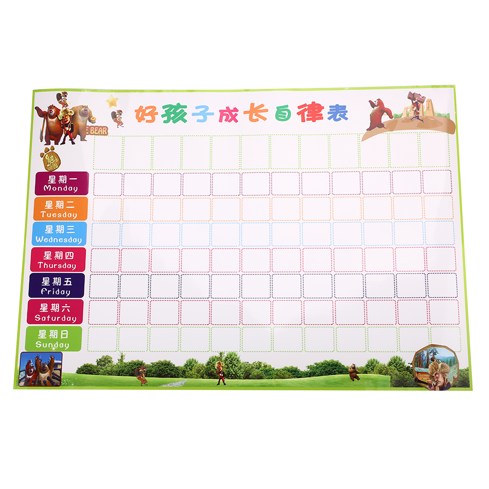 Reusable ChildrenS Behaviour Chart Children Reward Chart Behavior Chores Chart Kids Ultra Thin Learning Universal