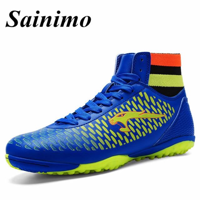 Hombres Botas de Fútbol Turf Atlético Racing botas de Fútbol profesional  voetbal sport shoes zapatos de 876e990f75190