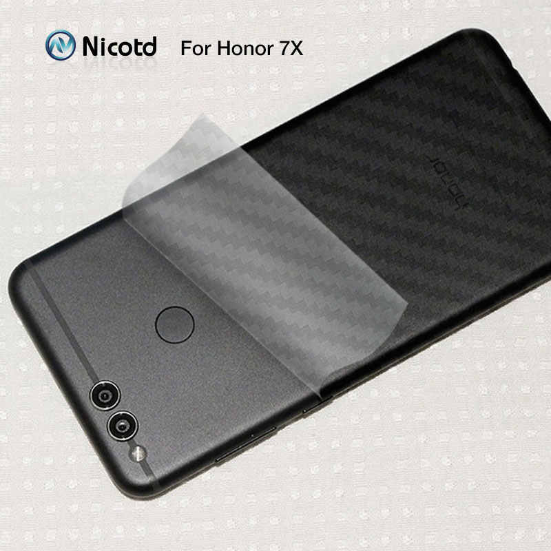 Nicotd For Huawei P30 P20 Pro P20Lite 3D Anti-fingerprint Carbon Fiber Back Screen Protector Film Stickers for P10 plus P10 lite