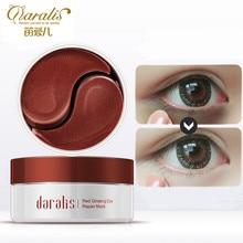Daralis 60 шт. красный женьшень коллагеновые патчи для глаз Eye Mask Crystal патч под глаз против морщин Темный Круг Remover для глаз