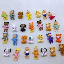 100 adet/grup çok sevimli lahana yama bebek mini karikatür pvc oyuncak çocuklar için rastgele karışık bebek 2-3cm oyuncak çocuk için
