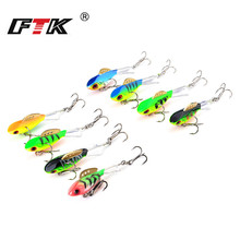 FTK 1PC Ice Fishing Lures Winter Bait 4g/8g/10g/17g Hard Bass Lure Balancer for Baits Lead Jigging