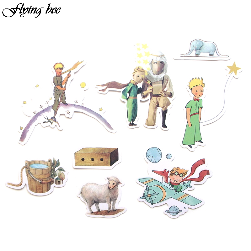 Image 3 - Flyingbee 23 Pcs Little Prince Cartoon Stickers for Kids DIY Luggage Laptop Skateboard Car Bicycle Waterproof Sticker X0023-in Stickers from Consumer Electronics
