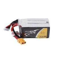 2PCS TATTU 22.2V 1300mAh 75C 6S XT60 Plug Lipo Battery for FPV RC Racing Drone