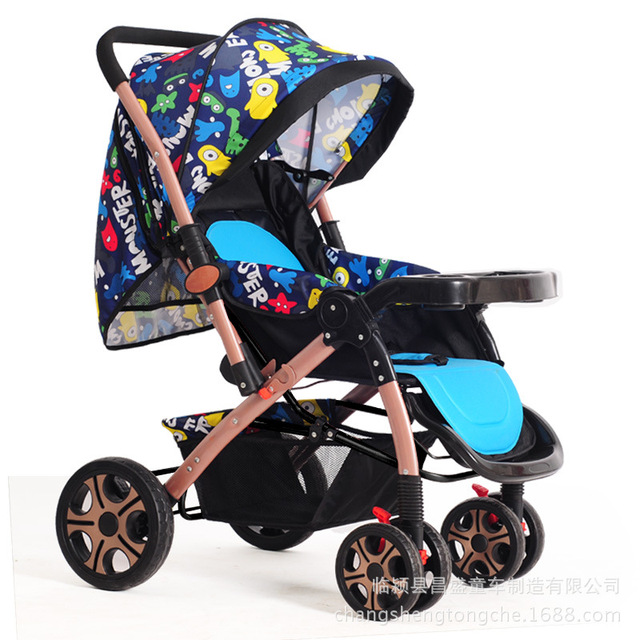 New Arrives Baby Stroller High Landscape Poussette Baby Car Shockproof Folding Portable Kinderwagen 0-3 years old C01