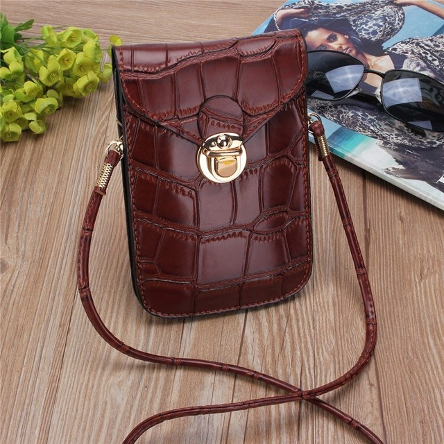 Osmond Silver Mobile Phone Mini Bags Small Clutches Shoulder Bag Crocodile Leather Women Handbag Black Clutch Purse Handbag Flap 2