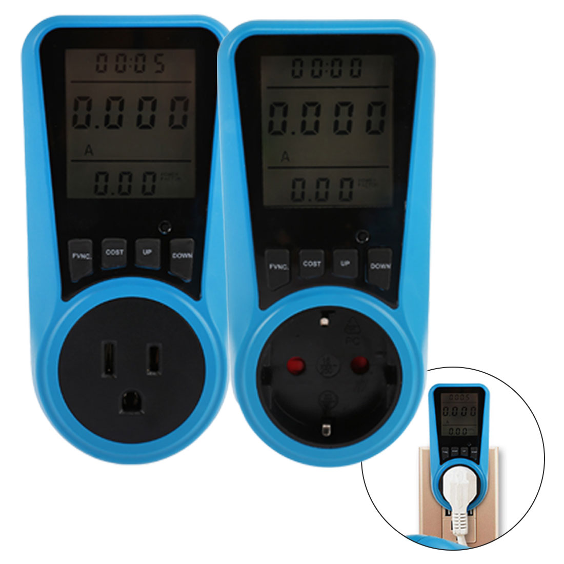 Power <font><b>Meter</b></font> Routine Measuring Outlet Socket <font><b>Electricity</b></font> Usage Monitor Household Power Metering Socket AC230V 50Hz EU/US/UK Plug image