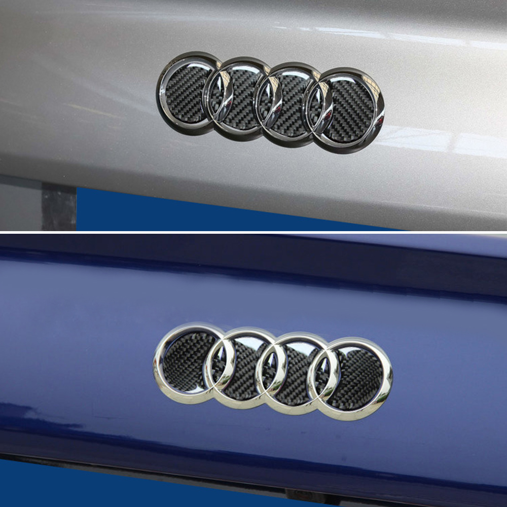 Image 5 - Carbon Fiber Logo Rear Trunk Badge Emblem Decal Sticker Replacement for Audi Car Logo Decal Car Tail Label Vehicle-in Car Stickers from Automobiles & Motorcycles