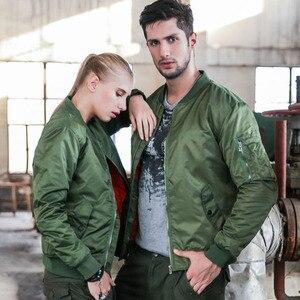 Image 5 - 새로운 망 캐주얼 재킷 육군 군사 비행 파일럿 폭격기 재킷 망 봄 가을 겉옷 군사 재킷 큰 크기 8xl jk103