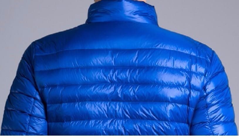 Men casual warm Jackets solid thin breathable Winter Jacket Mens outwear Coat Lightweight parka Plus size XXXL hombre jaqueta 17