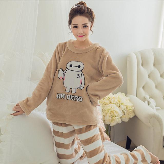 Winter Patterned Long Cute Pajamas