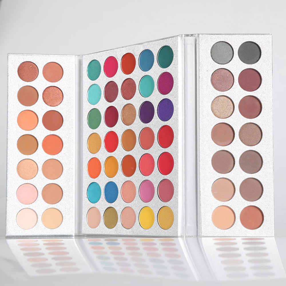 Красивые глазурованные Горячие 63 Разноцветные Тени для век Палитра для пигментов Блеск Мерцающий макияж Палетка теней Sombra Paleta De Sombra