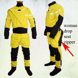 Image 5 - 2018 lenfun front enter WOMAN kayak dry suits WITH DROPSEAT zipper,canoeing,paddle suit,sailing ,Sea Kayak,Flatwater,Rafting