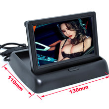 Складные 4.3 «4.3 дюймов TFT LCD дисплей монитора автомобиль dvd-плееры ЖК-монитор Цвет Автомобиля Монитор Заднего Вида для Автомобилей видеокамера заднего хода