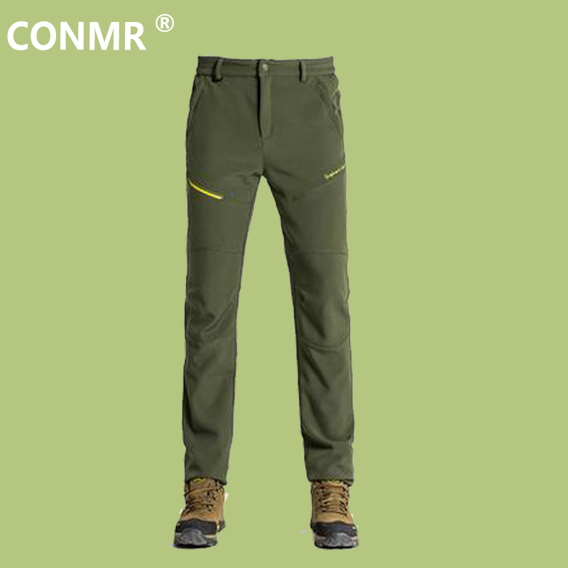 Mens Winter Softshell Pant Waterproof Trousers Cycling Skiing Hiking Camping Pants Men Soft Shell Fleece Thermal Outdoor Trouser winter men outdoor hiking fleece camping pants waterproof windbreaker thick warm trousers male inner fleece softshell pant rm141