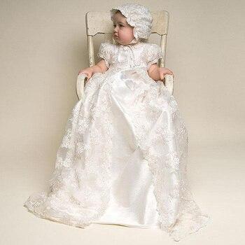 e2583e85b Bebé niña vestido de bautizo vestido de bautismo 1 año niña cumpleaños  vestido anniversaire chica Primer cumpleaños fiesta de 2 años viejo