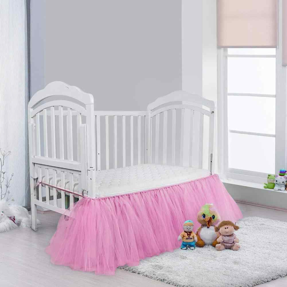 Detail Feedback Questions About Ruffled Crib Skirt Baby Bed Skirt