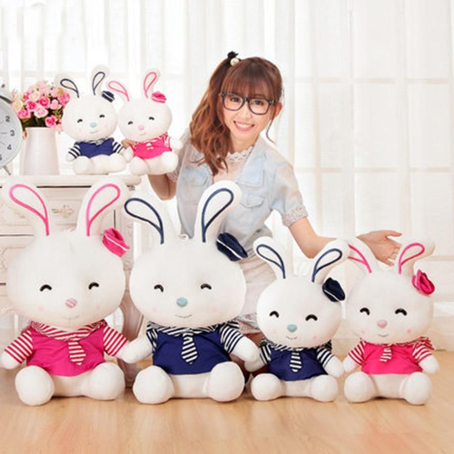 White Rabbit Stuffed Animal Toy Peluche Lapin Grands Girls Gifts Birthday Hare Plush Rabbit Plush Kawaii Soft Toy 70C0379
