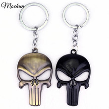 MQCHUN Marvel The Punisher Skull Metal Keychain chaveiros llaveros Keyring For Car Key Chain Ring Pendant llaveros mujer hombre